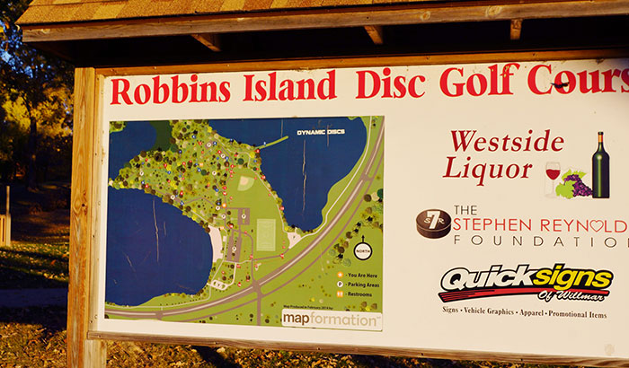 what is a disc golf course